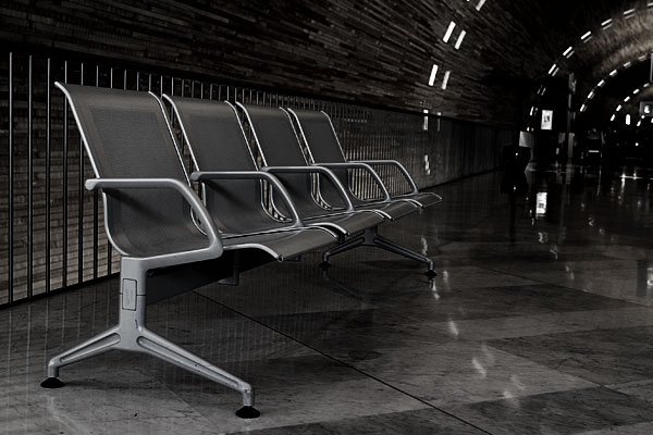 Airport Paris, Charles-de-Gaulle, bench
